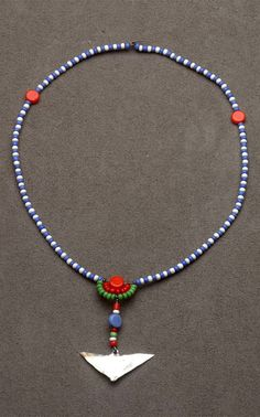 Africa | Collar necklace from the Maasai people of Kenya | Beads, metal and wire