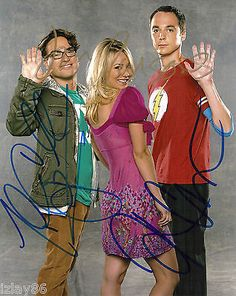 Big bang theory cast x3 hand signed 8x10 photo jim #parsons #cuoco #galecki coa,  View more on the LINK: http://www.zeppy.io/product/gb/2/231771101099/