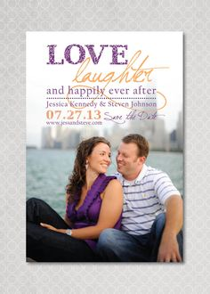 Save the Date Photo Magnet Postcard  Happily Ever by PinchOfSpice, $15.00