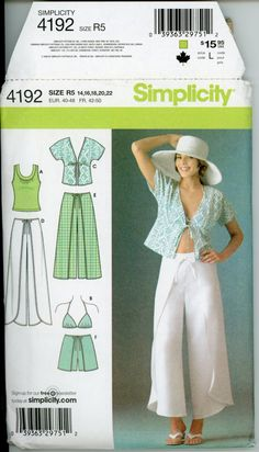 Womens Wrap Pants Pattern Uncut Simplicity 4192 by CynicalGirl