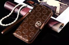 Bright MK Leather Wallet iPhone case