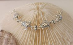 Silver Turtle Bracelet by TheGreenEyedTurtle on Etsy, $20.00