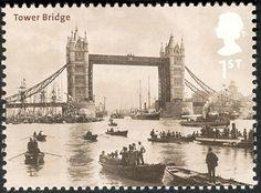 London's iconic bridge over the Thames River.