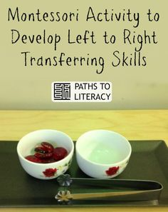 Montessori Activity to Develop Left to Right Transferring Skills. Practical life activities are things that can easily be created for use at home or school hold so much value in the child's overall development and pre-literacy skills.
