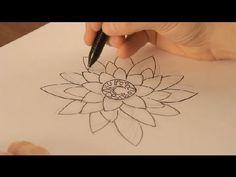 ▶ Cómo dibujar una flor de loto : Dibujos de la Naturaleza - YouTube