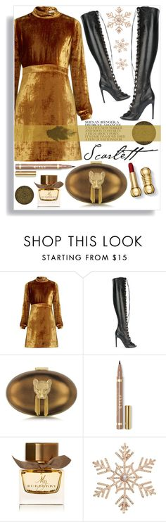 """""""Gold rush"""" by thestrawberryfields ❤ liked on Polyvore featuring A.L.C., Giambattista Valli, Thalé Blanc, Burberry, John Lewis and gold"""
