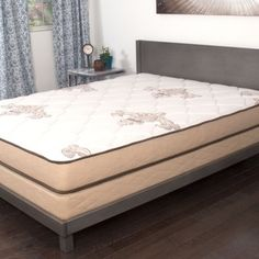 Nuform Trizone Quilted 7 Inch Twin Size Firm Foam Mattress Furniture Outletonline