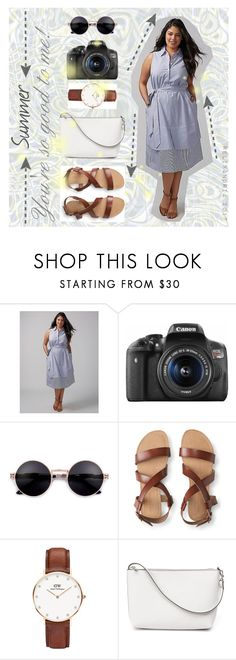 """""""Summer Dress With Buttons   Collared Button Down Dress"""" by relixandria ❤ liked on Polyvore featuring Eos, Aéropostale, Daniel Wellington and Summer"""