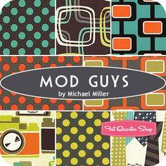 Mod Guys Fat Quarter Bundle Michael Miller Fabrics - Fat Quarter Shop