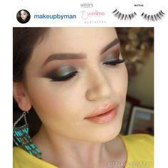 Beautiful #eyemakeup by Instagrammer, @makeupbyman, wearing EYEMIMO #eyelashes style #NTR48. Link to product:  http://www.shopeyemimo.com/ntr48-eyemimo-brand-false-eyelashes/