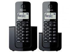 Telefone Sem Fio Panasonic TGB112 + 1 Ramal - Identificador de Chamada Black Piano