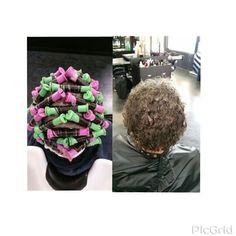 Brick lay perm Curly Perm, Brick Laying, Roller Set, Perms, Hair Beauty, Hairstyles, Texture, Eye, Hair Style