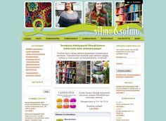 Käsityöpuoti Silmu&Solmun kotisivut sekä verkkokauppa syntyivät Kotisivukoneen avulla ja sieltä löytyy kattava valikoima laadukkaita neulelankoja ja -tarvikkeita.