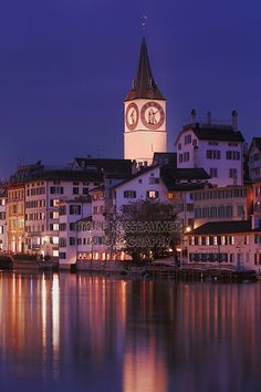 St Peter's Church Tower, Zurich, Switzerland