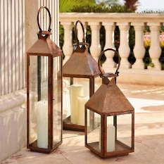 Notable for their traditional appearance, our large Solano Lanterns combine classic design with modern craftsmanship techniques. Lanterns Decor, Candle Lanterns, Candle Sconces, 6 Candles, White Candles, Hurricane Candle Holders, Candle Box, Luxury Home Decor, Decoration