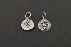 Sterling Silver Double Sided Pendant OHMSpiral with by Beadspoint, $6.99
