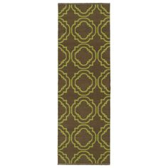 Kaleen Rugs Indoor/Outdoor Laguna and Avacado Geo Flat-Weave Rug