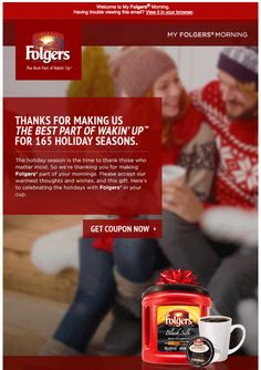I wrote this copy for the Dec. 2015 Folgers e-newsletter. Not bad for a Jew who doesn't drink coffee. Saatchi & Saatchi, Copywriter, We The Best, Drink Coffee, Thankful, Writing, How To Make, Composition, Writing Process