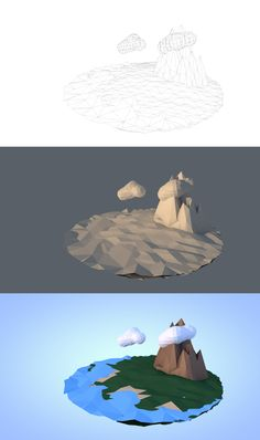 I made this with Cinema 4D R14. My little low poly world. Turned out pretty good. But i still need to work on my lighting
