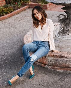 Aimee Song @songofstyle Patched denim goo...Instagram photo | Websta (Webstagram)