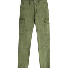 Closed Stretch Cotton Cargo Pants ($175) ❤ liked on Polyvore featuring pants, green, green cargo pants, slim pants, tapered pants, cropped pants and cargo pocket pants