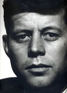 John F. Kennedy (1917-1963) the 35th President of the United States, serving from January 1961 until he was assassinated in November 1963. Photo © Philippe Halsman