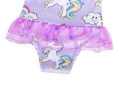 KiuLoam Colorful Cute Elephant Girls Swimwear One Piece Swimsuits Bathing Suit for 3-8 Years Baby Girl