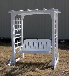 5' Porch Swing with Arbor  $840  Ebay....love this!