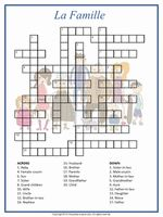 Build French vocabulary with this crossword puzzle activity featuring the names of family members. The English name is given as the clue and students need to fill in the French equivalent. A fun worksheet for a sub folder or for French club. French Language Lessons, French Language Learning, French Lessons, French Worksheets, Fun Worksheets, How To Speak French, Learn French, Printable Crossword Puzzles, French Education