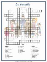 French Family Crossword