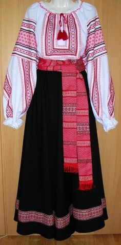 more Vasilissa costume ideas: Do you think I could make something like this? The skirt would be easy, the sash would be easy, the shirt not so much. Traditional Fashion, Traditional Dresses, Folk Costume, Costumes, Costume Ideas, Ukrainian Dress, Ukrainian Art, Ukraine, Ethno Style