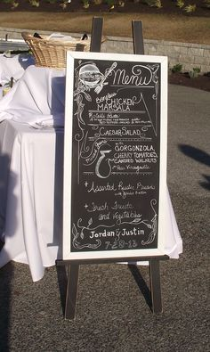 Menu Board Chicken Marsala, Cherry Tomatoes, Vinaigrette, Wedding Inspiration, Wedding Ideas, Menu, Inspired, Board, Menu Board Design