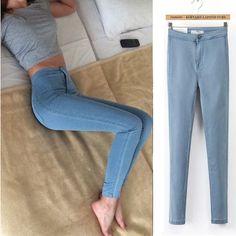 731a303a013 LYUSan Plus Size Pant Jeans Women Skinny High Waist Jeans Woman Blue Denim  Pencil Pants Stretch Waist Women Jeans Wummer Pants