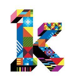 Letter K type design by Dan Agostino #typography #design #pattern ...