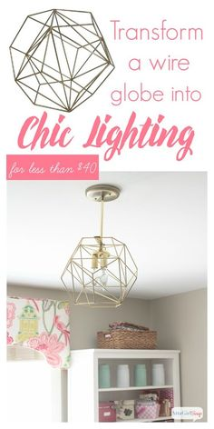 You could spend hundreds of dollars on a geometric globe pendant light, or you could DIY your own for less than $40.
