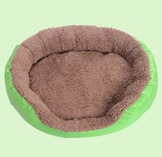 Washable Puppy Pet Dog and Cat Colorful Mattress Bed Mat House for Dog Accessories Breathable Dog House Green Color ** Quickly view this special dog product, click the image : Pet dog bedding