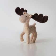 Christmas with MO the Moose  a proud handmade by forestbluefactory