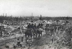 The site of Guillemont village on the Somme battlefields, during the War