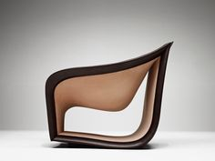 Split sofa and chairs alex hull studio side view Inspired by the Movement of the Waves: Split Leather Sofa