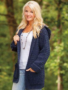 Crochet Hoodie Cardigan / Annie's