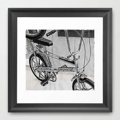 70s Iconic Bike Uk Framed Art Print by Fiona & Paul Photography and Digital Art - $35.00