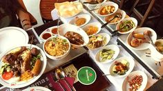 """Restaurant Sama Sebo is one of the oldest and most famous Indonesian restaurants and their specialty is, of course, rijsttafel. Literally translating to """"rice table"""". http://www.foodiehub.tv/europe/Amsterdam/review/Sama-Sebo/Rijjsttafal/2393_2370"""
