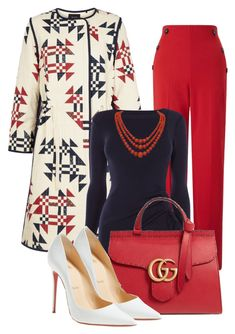"""For the love of Printed Coat"" this is a stunning office outfit! Work Fashion, Fashion Looks, Fashion Outfits, Womens Fashion, Fashion Trends, Fashion Scarves, Fashion Fashion, Mode Ootd, Mode Hijab"