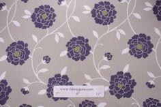 Robert Allen Sperling Printed Cotton Drapery Fabric in Iris $9.95 per yard