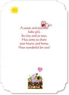 New baby girl verse nbgv002 card sentiments pinterest verses baby girl verse click to enlarge m4hsunfo