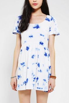 byCORPUS Knit Tie-Dye Babydoll Dress #urbanoutfitters