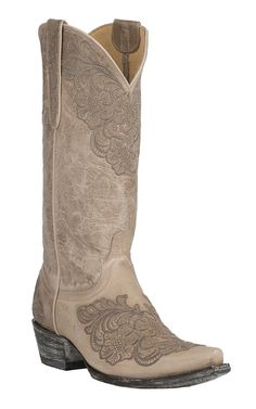 The perfect wedding boots for a country bride!