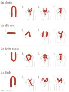 More about tying scarves