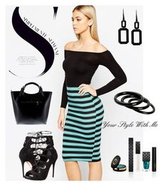 Stripe dress! by christina-geo on Polyvore featuring Club L, Alexander McQueen, Massimo Castelli, Rebecca, Furla, Gucci, women's clothing, women's fashion, women and female