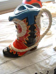 Cowboy Boot Teapot by SavannahGuzVintage on Etsy, $25.00